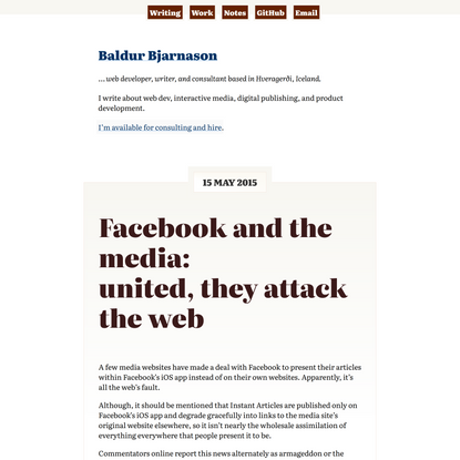 Facebook and the media: <br>united, they attack the web