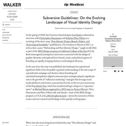 Subversive Guidelines: On the Evolving Landscape of Visual Identity Design