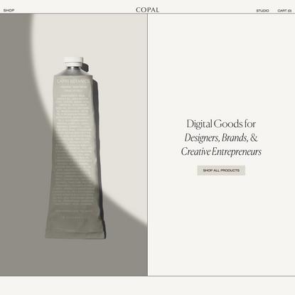 Copal | Packaging Mockups & Digital Goods For Designers