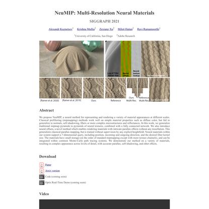 NeuMIP: Multi-Resolution Neural Materials
