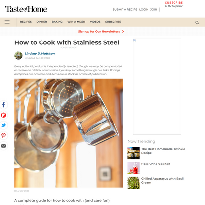 Are You Cooking with Stainless Steel the Right Way?