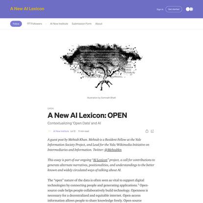 A New AI Lexicon: OPEN
