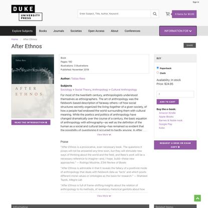 Duke University Press - After Ethnos