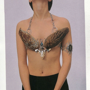 A small selection of World of Wearable Arts entries (1986 - 1997). An annual competition held in Aotearoa (New Zealand), showcasing explorations in textile art, crafts and kitsch experimentalism.