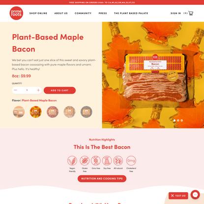 Plant-Based Maple Bacon