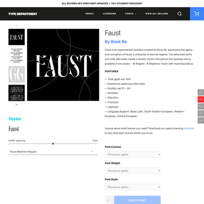 Faust - Type Department