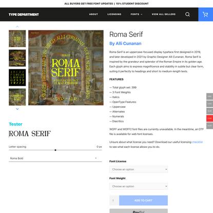 Roma Serif - Type Department