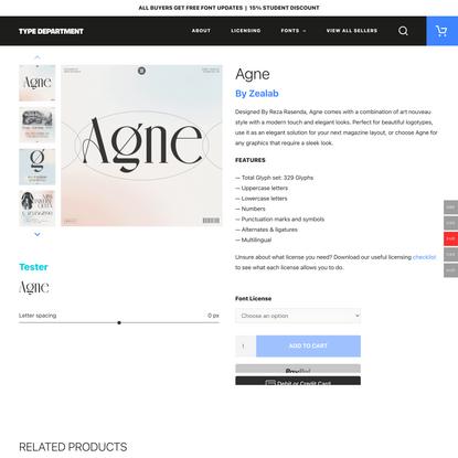 Agne - Type Department
