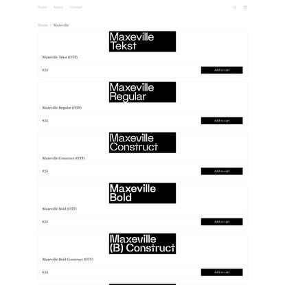 Maxeville - Soft Machine Typefaces