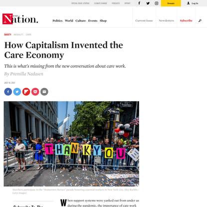 How Capitalism Invented the Care Economy