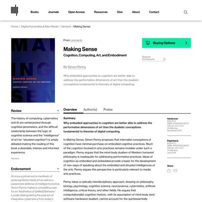 Making Sense | The MIT Press