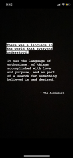 The alchemist ; language and meaning