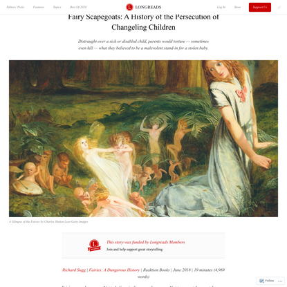 Fairy Scapegoats: A History of the Persecution of ChangelingChildren