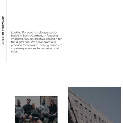 Looking Forward – a Creative Direction Company.