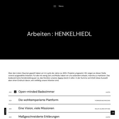 Projekte : HENKELHIEDL