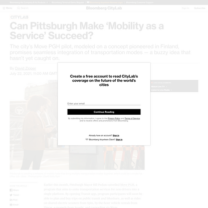 Can Pittsburgh Make 'Mobility as a Service' Succeed?