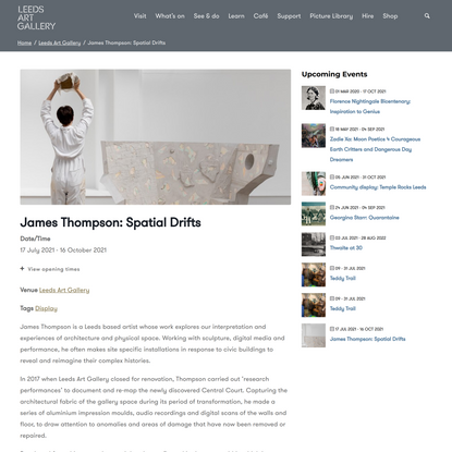James Thompson: Spatial Drifts - Leeds Museums & Galleries