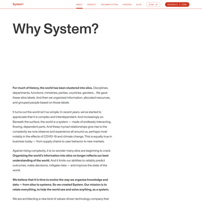 System – Purpose and Mission