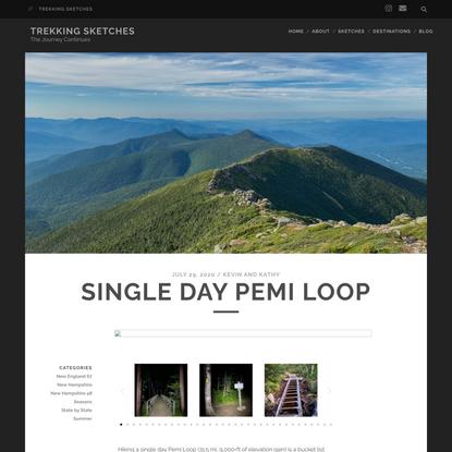 Single Day Pemi Loop - Trekking Sketches