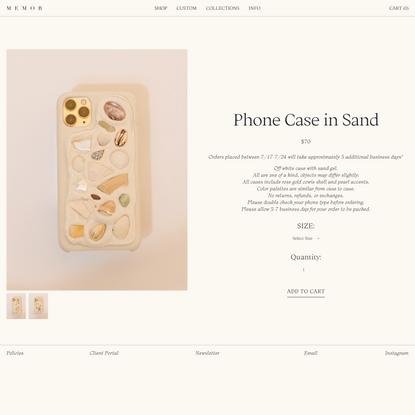 Phone Case in Sand — MEMOR