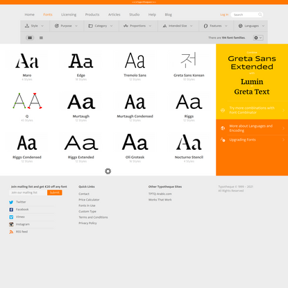 Typotheque Font Collection - text and display typeface for print and web