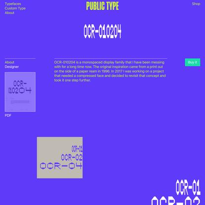 Public Type: OCR-010204