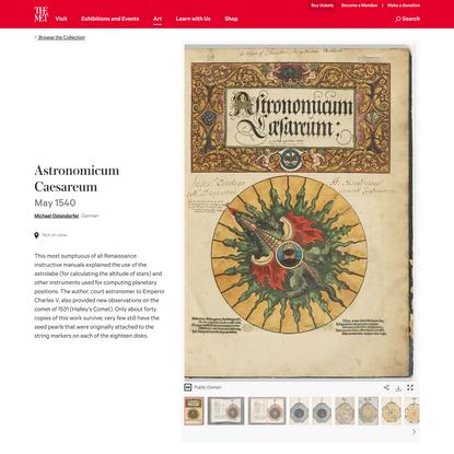 Michael Ostendorfer   Astronomicum Caesareum   The Metropolitan Museum of Art