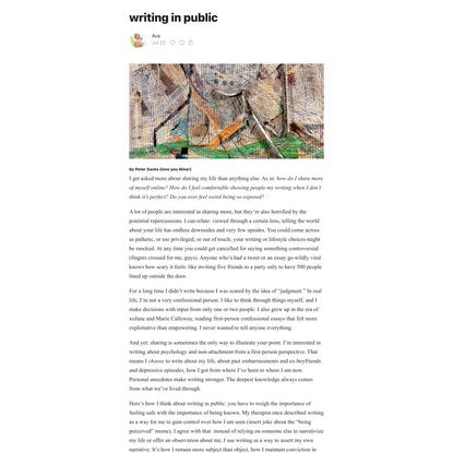 writing in public