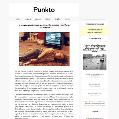 A universidade sob a condição digital • António Guerreiro