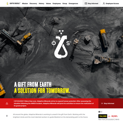 Adaptive Minerals   A gift from earth, a solution for tomorrow