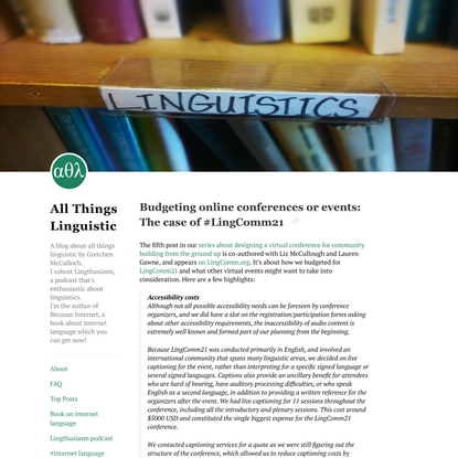 All Things Linguistic