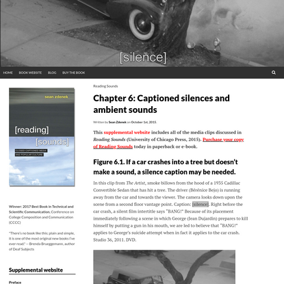 Chapter 6: Captioned silences and ambient sounds