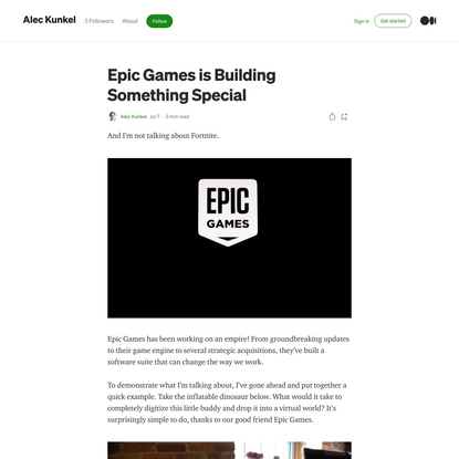 Epic Games is Building Something Special
