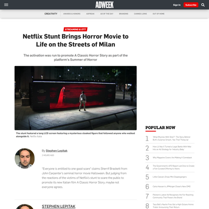 Netflix Stunt Brings Horror Movie to Life on Milan's Streets