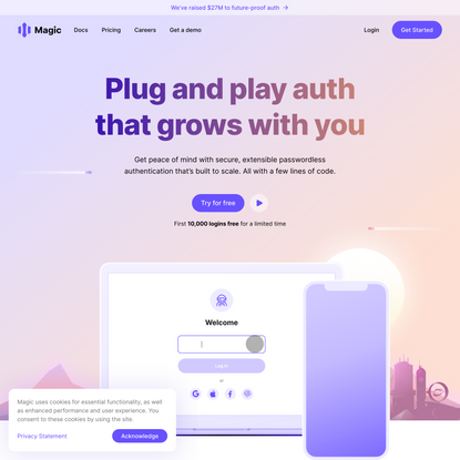 Magic: Future-proof passwordless authentication