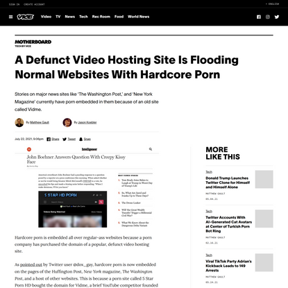 A Defunct Video Hosting Site Is Flooding Normal Websites With Hardcore Porn