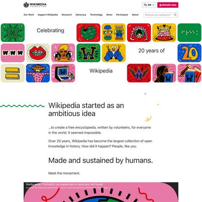 Celebrating 20 years of Wikipedia