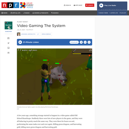 Video Gaming The System : Planet Money