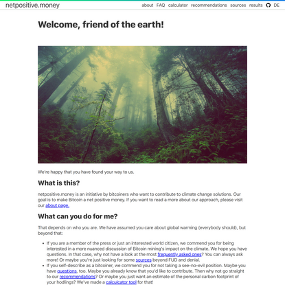 Welcome, friend of the earth!