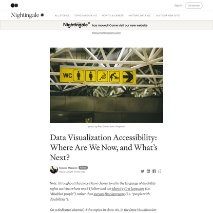 Data Visualization Accessibility: Where Are We Now, and What's Next?   by Melanie Mazanec   Nightingale   Medium
