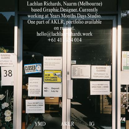 Lachlan Richards - Graphic Designer