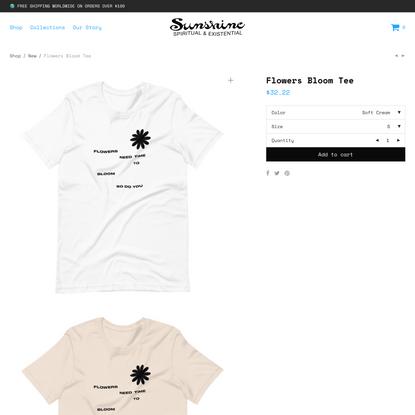Flowers Bloom Tee - Sunshine Shop