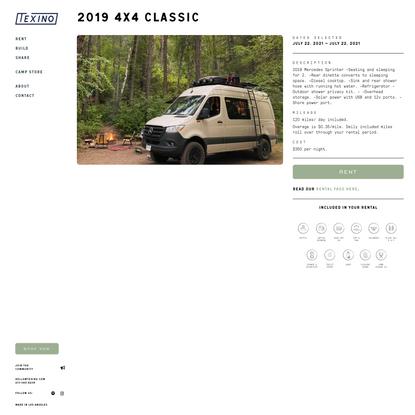 Texino - The best camper van conversions in Los Angeles