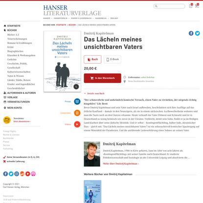 Das Lächeln meines unsichtbaren Vaters - Bücher - Hanser Literaturverlage