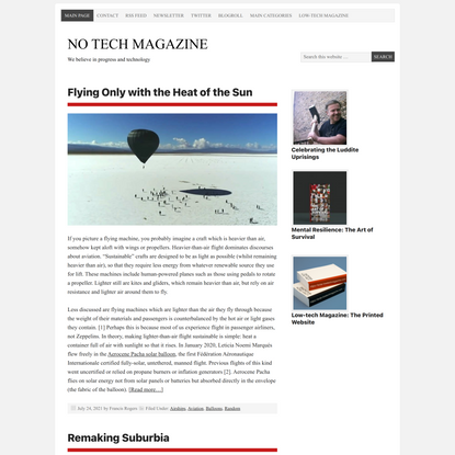NO TECH MAGAZINE – We believe in progress and technology