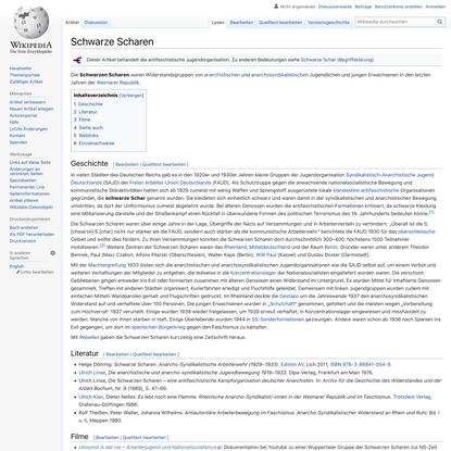 Schwarze Scharen – Wikipedia
