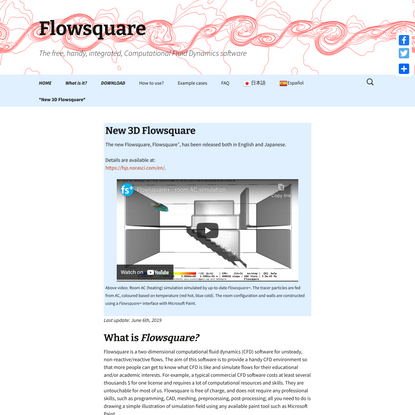 Flowsquare | The free, handy, integrated, Computational Fluid Dynamics software