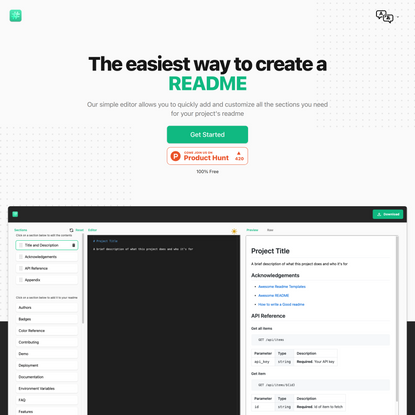 readme.so - Easiest Way to Create A README