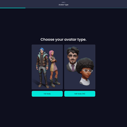 Ready Player Me - Create a Full-Body 3D Avatar From a Photo