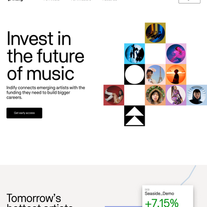 Indify - Invest in the future of music